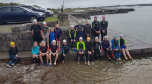 Junior squad at annaghdown pier in 2017
